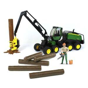 1/16 Bruder John Deere Logging Set with Forestry Worker 9823-Set