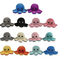Cute Octopus Plush Toys, Double-sided Flip Octopus Doll - Reversible - BRAND NEW