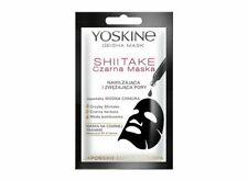 YOSKINE Geisha Mask SHIITAKE czarna maska nawilżająca/ Black sheet mask