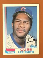 1982 Topps Lee Smith Rookie Card #452 EX - Chicago Cubs HOF