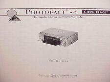 1978 PLYMOUTH ARROW AM-FM RADIO SERVICE MANUAL MODELS AR-1730CR-B & AR-1730CE