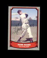 Hank Sauer Hand Signed 1988 Pacific Baseball Legends Cincinnati Reds Autograph