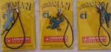 BANANAMAN MOBILE PHONE CHARMS RARE SET OF 3 BNOC DC THOMSON RETRO 80s BANANA MAN