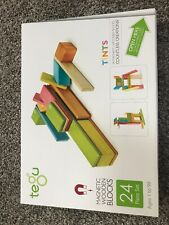 Tegu Toys -- Four (4) 24 Piece Tegu Magnetic Wooden Block Sets -- Tints -- NEW
