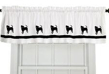 Puggle Dog Window Valance Curtain Color choices