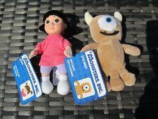 BNWT Disney Store Monsters Inc - BOO + Little Mikey Teddy - Plush Soft Toy Dolls