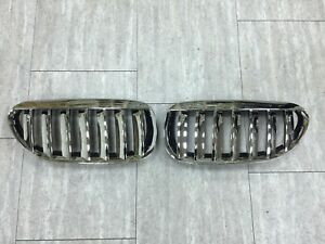 Front Kidney Grilles Chrome-Black For '2004-'2010 BMW E63/E64/M6 Convertible