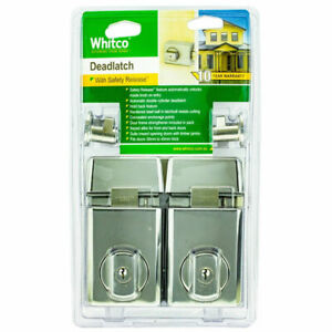 NEW Whitco Chrome Double Cylinder Deadlatch - Twin Pack