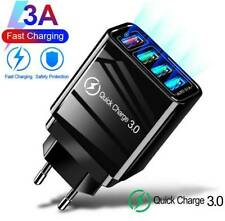 QC3.0 Fast Quick Charge 4 USB Ports Hub Wall Charger Power Adapter US EU UK Plug