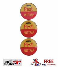 3 FORMICA TRAPPOLE PEST STOP COCKROACHES BEETLE le pulci woodlice Bed Bug inosservato TRAPPOLA