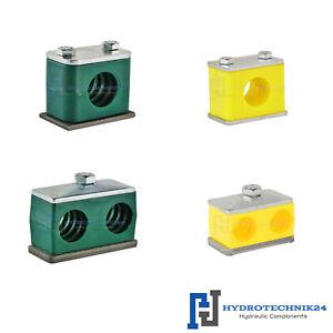 Hydraulikrohrschelle Rohrschelle Schlauchschelle mit Anschwei/ßplatte 6 mm