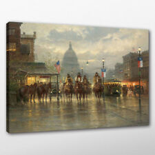 Canvas Painting G. Harvey Cowboy A Letter From Print Home Wall Art Decor 12x16