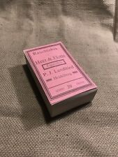 WWI Imperial German Army/ Navy Cigarette Box red label