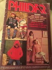Childrens PHILDAR Mailles No 62 KNITTING PATTERN BOOKLET,