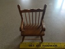 """Vintage Wooden Doll Chair 5 3/4 """"Tall"""