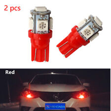 2pcs T10 5050 W5W 5 SMD 194 168 LED Red Car Side Wedge Tail Wide door Light Lamp