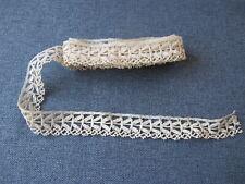 Antique lace trim edging 1 1/2 yards long 10442i
