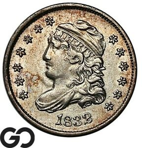 1832 Capped Bust Half Dime, Choice AU++/Unc Collector Type Coin * Free Shipping!