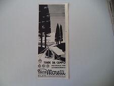 advertising Pubblicità 1941 TENDE DA CAMPO ETTORE MORETTI