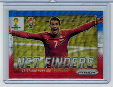 2014 Panini Prizm World Cup Net Finders Cristiano Ronaldo Blue White Red Prizm