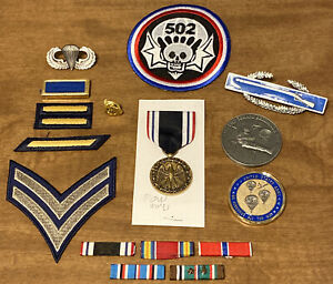 WWII US Army Paratrooper Glider Airborne Patch Medal Lot Medal Pin Gold Eagle