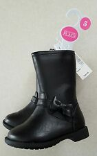 NWT Children's Place Toddler Girls SIZE 5 Black Boots 'RYDER' FALL Winter #51717