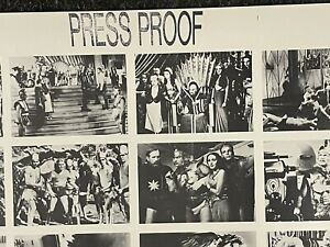 Flash Gordon rare uncut Press proof cards sheet 1992