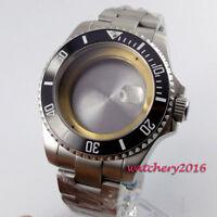 43mm PARNIS Sapphire Keramik-Lünette Uhrengehäuse passen ETA 2836 8215 Bewegung