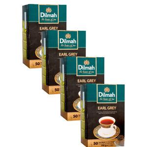 Dilmah earl grey pure Ceylon tea - 50 Bags 100g (3.53oz) X 4 packs