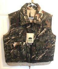 Bear Ridge Reversible Full zip Wilderness Camo / Tan Hunting Vest Large Mens L