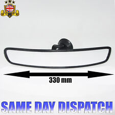 Car Wide Rear View Interior Mirror Suction Cup 33cm Universal Vauxhall Audi Bmw