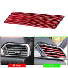 10PCS Red Air Outlet Strip Cover Trim Car Air Conditioner Accessories DIY Kit