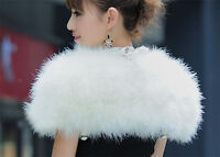 Echte Straußfeder Pelzmantel Shrug Jacket Hochzeit Bolero Bridal 6 Farben