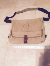 American Eagle Outfitters Canvas and Leather Shoulder Messenger Briefcase Bag