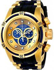 19731 Invicta Reserve 52mm Bolt Zeus Swiss Chronograph 18KT GP Case Strap Watch