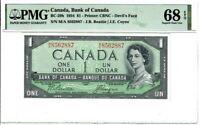 Canada $1 Dollar Banknote 1954 BC-29b PMG Superb GEM UNC 68 EPQ Devil's Face