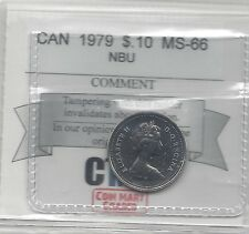 **1979**, Coin Mart  Graded Canadian,  10  Cent, **MS-66 NBU**.