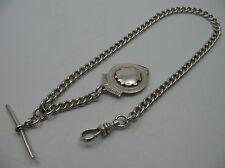 Wunderschöne alte englische Knebel Uhrkette Taschenuhrkette aus 925 Silber
