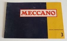 Ancien Livret de  MECCANO  N° 3