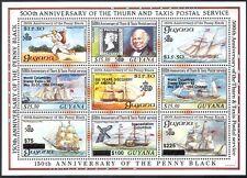 Guyana 1992 NAVI E TIMBRO-On-TIMBRO/mail/trasporto postale 9v Sht Nero O/P (b3686)