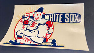 "TOUGH 1946 CHICAGO WHITE SOX UNUSED ""I'M BATTING FOR THE WHITE SOX"" WINDOW DECAL"