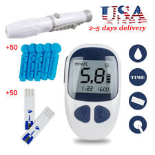 Digital Blood Glucose Monitor Sugar Meter Monitor Diabetes with 50 Test Strips
