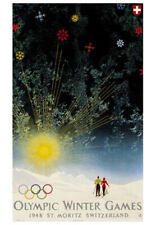 St. Moritz 1948 Winter Olympic Games Official Olympic Museum POSTER Reprint