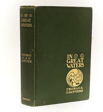 Thomas A. Janvier 'In Great Waters' Harper & Brothers 1901 1st Ed signed letter