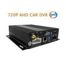 4CH HD 720P AHD Real-time Recording 128GB SD Car Mobile DVR GPS Video Recorder