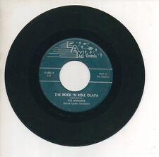 THE BONAIRES 45 RPM Record DINGLE DANGLE / THE ROCK 'N  ROLL OLAPA
