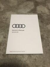 2018 Audi Q5 Owners Manual Oem Free Shipping