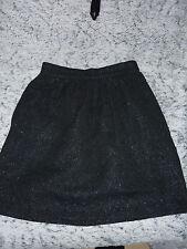 jupe mi longue noire à paillettes argentées NAF NAF taille 36