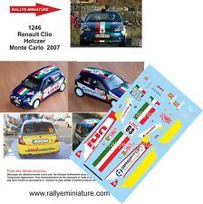 DECALS 1/43 REF 1246 Renault Clio  Holczer Rallye Monte Carlo  2007