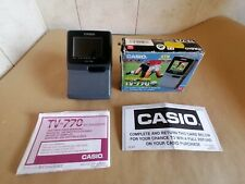 Vintage Casio TV-770 LCD Colour Hand Held TV,Boxed With Instructions